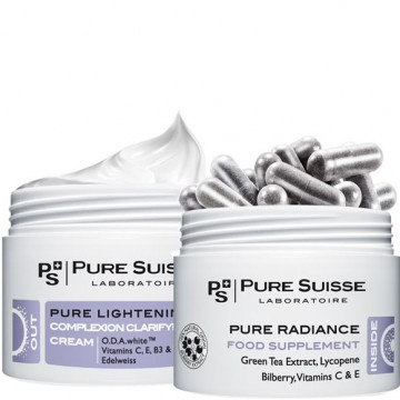 Купити - Pure Suisse Pure Radiance Step 1 - Харчова добавка-антистрес з зеленим чаєм
