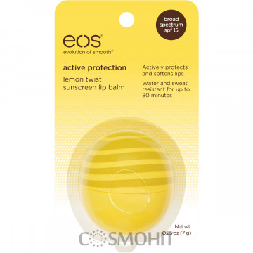 "Купити - EOS Active Protection Lemon Twist Sunscreen Lip Balm SPF 15 - Бальзам для губ ""Лимон твіст"""