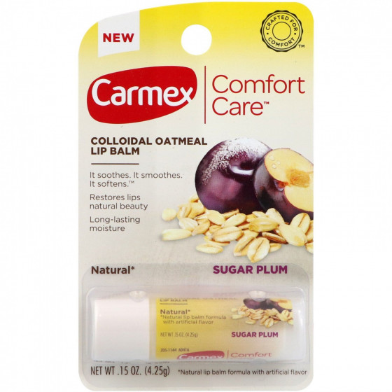 Carmex Comfort Care Colloidal Oatmeal Lip Balm Sugar Plum Stick - Бальзам для губ в стике