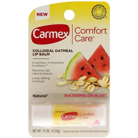 Carmex Comfort Care Colloidal Oatmeal Lip Balm Watermelon Blast Stick - Бальзам для губ в стике