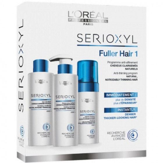 L'Oreal Professionnel Serioxyl Anti-Thinning Program Natural, Noticeable Thinning Hair - Набір для натуральних, тонкого волосся